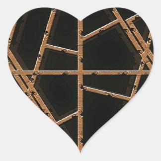 Tyg binder bakgrund hjärtformat klistermärke