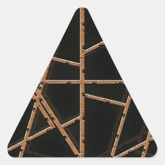 Tyg binder bakgrund triangelformat klistermärke