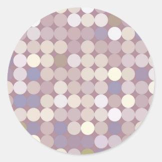 Tyg cirklar det abstrakt mönster runt klistermärke
