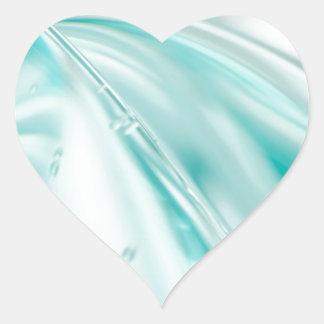 tyg för mönster för silke för turkos för hjärtformat klistermärke