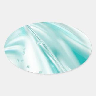 tyg för mönster för silke för turkos för ovalt klistermärke