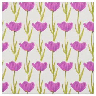 Tyg för vattenfärg för lilavårtulpan botaniskt