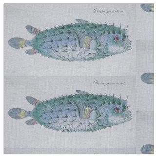tyg för vintagepufferfisk