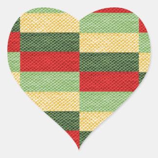 tyg hjärtformat klistermärke