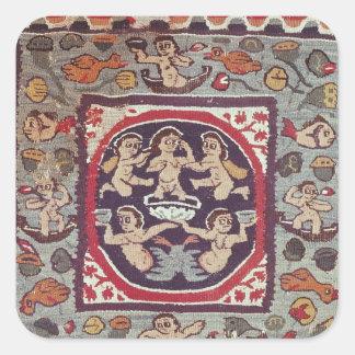 Tyg som visar Venus Anadyomene, från Antinoe Fyrkantiga Klistermärken