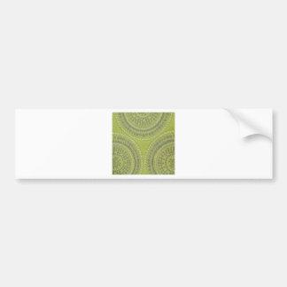 Tygstrukturgrönt cirklar grå färgvintagecoolan Pat Bildekal