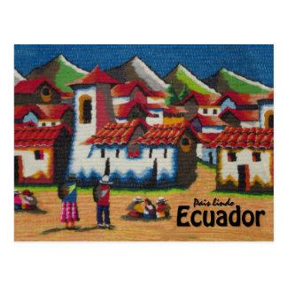 Typisk Ecuador Otavalo Tapestry Vykort