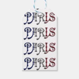 Typografi för färger för flagga för Paris Presentetikett