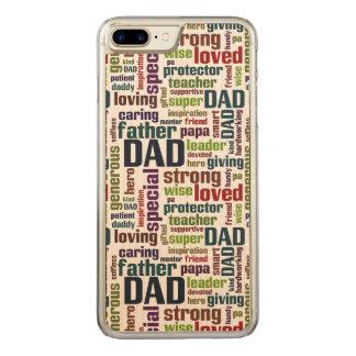 Typografi för fars dag för text för pappaordmoln carved iPhone 7 plus skal
