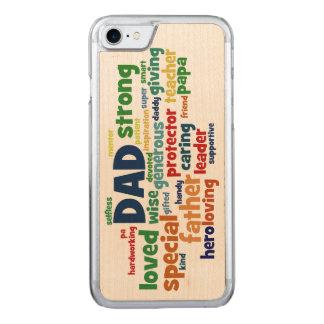 Typografi för fars dag för text för pappaordmoln carved iPhone 7 skal
