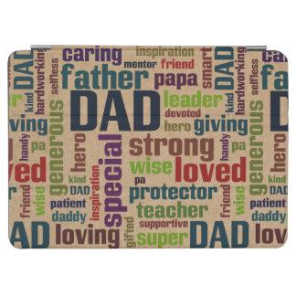Typografi för fars dag för text för pappaordmoln iPad air skydd