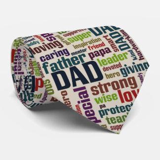 Typografi för fars dag för text för pappaordmoln slips
