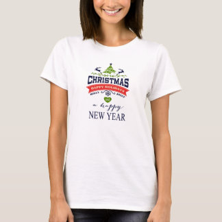 Typografi för konst för ord för julvintagehjort t shirt