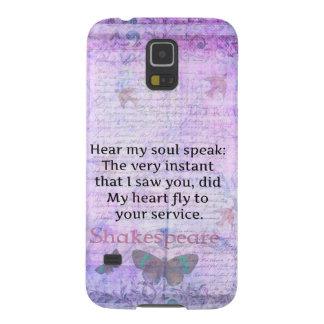 Typografi för konst för Shakespeare romantisk Galaxy S5 Fodral