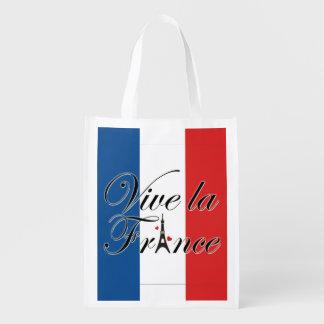 Typografi för Vive lafrankriken Återanvändbar Påse