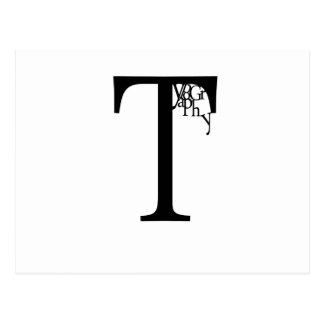 Typografi Vykort