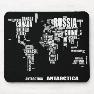 Typografivärldskarta Musmatta