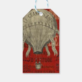 Typsnitt för ritt för Ballon för Steampunk Presentetikett