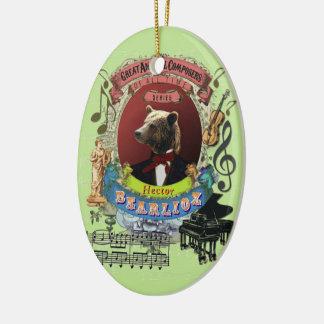 Tyrannisera den djura kompositören Berlioz för den Julgransprydnad Keramik