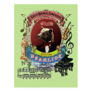 Tyrannisera den djura kompositören Berlioz för den Vykort