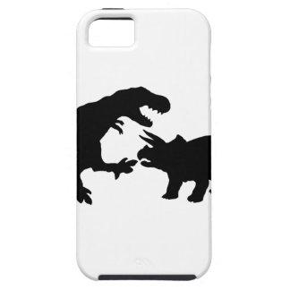 Tyrannosaur och Triceratops b iPhone 5 Skal