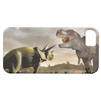 Tyrannosaurus mycket på triceratopsen - 3D framför iPhone 5 Case-Mate Skal