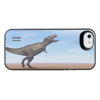 Tyrannosaurusdinosaur i öknen - 3D framför iPhone SE/5/5s Batteri Skal
