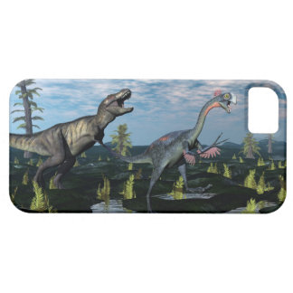 Tyrannosaurusrex som anfaller iPhone 5 skal