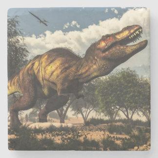 Tyrannosaurusrexdinosaur och dess ägg underlägg sten
