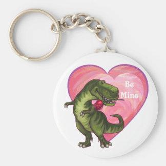 Tyrannosaurusvalentin dag rund nyckelring