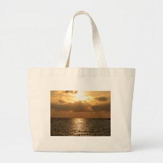 Tyrrhenian hav, solnedgång jumbo tygkasse