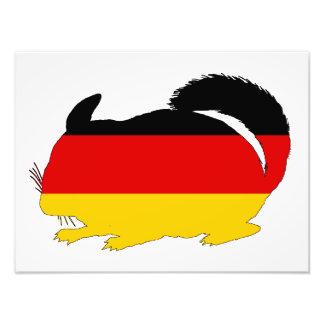 Tysk flagga - Chinchilla Fototryck
