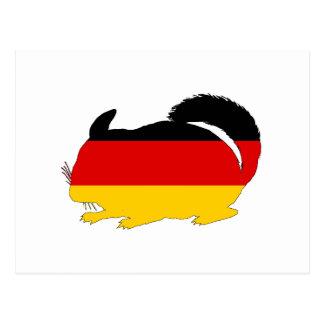 Tysk flagga - Chinchilla Vykort