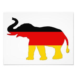 Tysk flagga - elefant fototryck