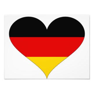 Tysk flagga - hjärta fototryck