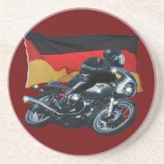 Tysk flagga & Motorbikeryttare Underlägg