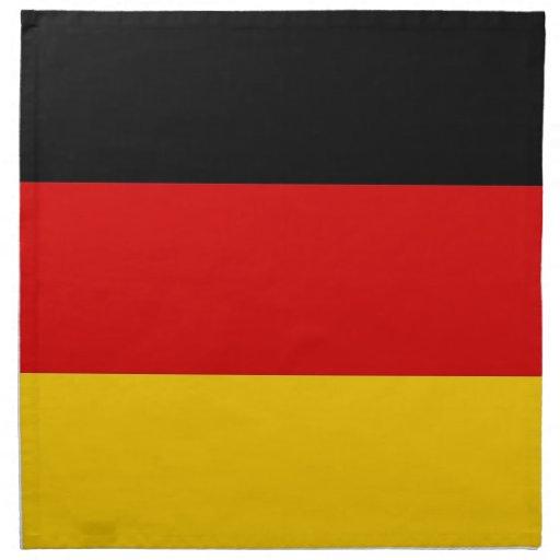 Tysk flagga på den MoJo servetten Servetter