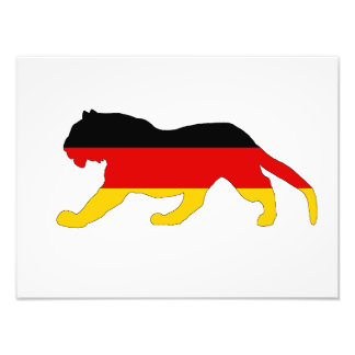 Tysk flagga - tiger fototryck