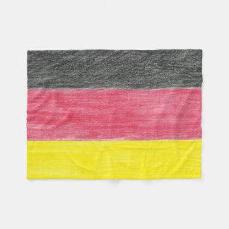 Tysk flaggaullfilt fleecefilt