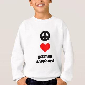 Tysk herde för fredkärlek t shirt