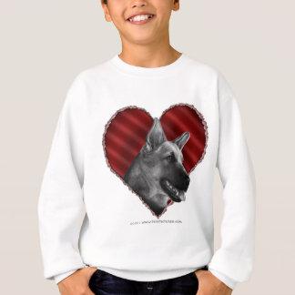 Tysk herde med hjärta tröja