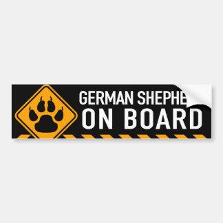 Tysk herde ombord bildekal