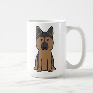 Tysk herdehundtecknad kaffemugg