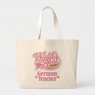 Tysk läraregåva (bäst världar) jumbo tygkasse