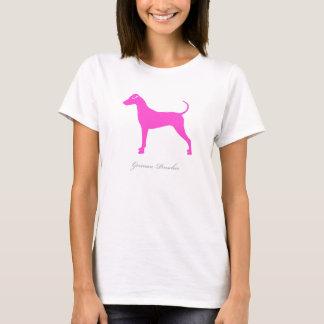 Tysk PinscherT-tröja (den rosa naturliga Tshirts
