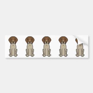 Tysk Shorthaired pekarehundtecknad Bildekal