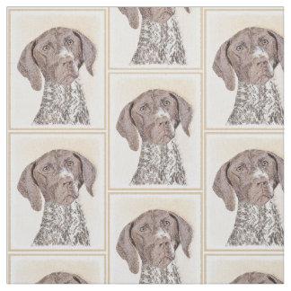 Tysk Shorthaired pekaremålning - hundkonst Tyg