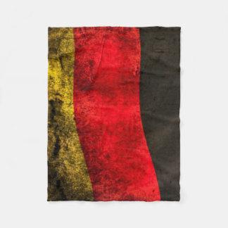 Tysk stads- filt för Grungeflaggaull