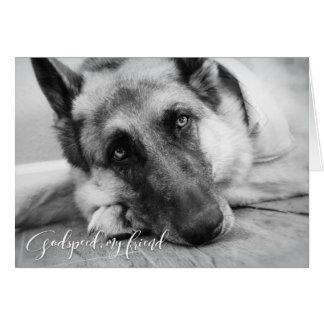 Tysk sympati för herdehusdjurförlust hälsningskort