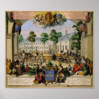 Tysk town Lingen (1700) Poster